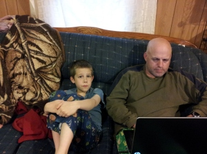 My nephew Matthew and my brother Daryl