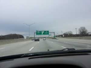 Entering Greensboro, NC